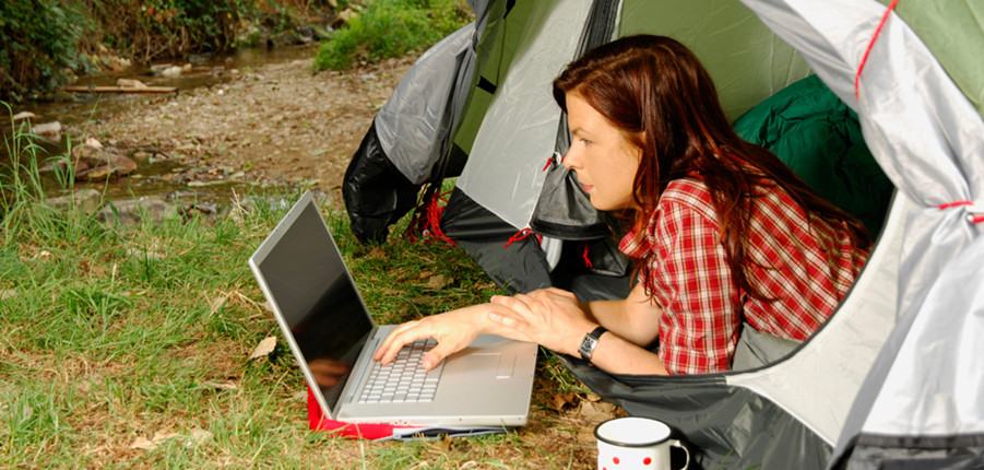 wifi camping laptop